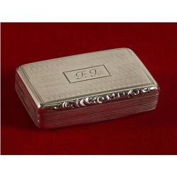 BIRMINGHAM WILLIAM IV STERLING SILVER SNUFFBOX