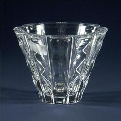 Signed Orrefors Crystal bowl vase