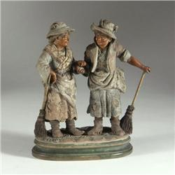 FIGURAL GROUP: European porcelain figural group