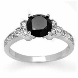 CERTIFIED 1.86ctw WHITE & BLACK DIAMOND RING 14KT GOLD