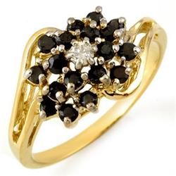 FINE 0.65ctw ACA CERTIFIED WHITE & BLACK DIAMOND RING