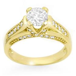 SOLITAIRE 1.25ctw ACA CERTIFIED DIAMOND RING 14KT GOLD