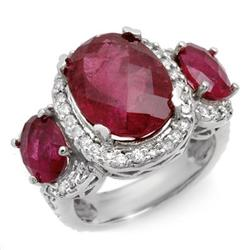 FINE 10.0ctw ACA CERTIFIED DIAMOND & RUBELLITE RING