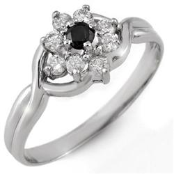 FINE 0.33ct ACA CERTIFIED WHITE & BLACK DIAMOND RING