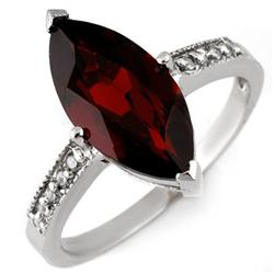FAMOUS 3.10ctw ACA CERTIFIED DIAMOND & GARNET RING