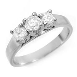 THREE-STONE 0.50ct ACA CERTIFIED DIAMOND RING 14KT GOLD
