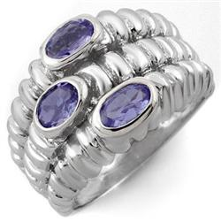 FINE 1.25ctw ACA CERTIFIED TANZANITE RING IN WHITE GOLD