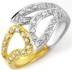 RIGHT-HAND 0.33ctw ACA CERTIFIED DIAMOND RING TWO-TONE