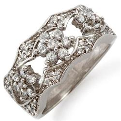 BRIDAL .90ctw ACA CERTIFIED DIAMOND BAND 14K WHITE GOLD