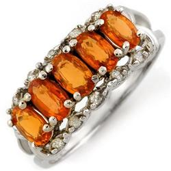 RING 1.80ctw ACA CERTIFIED DIAMOND & ORANGE SAPPHIRE