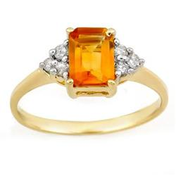 VINTAGE 1.12ctw ACA Certified DIAMOND & CITRINE RING