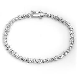 BRIDAL 1.25ct ACA CERTIFIED DIAMOND BRACELET WHITE GOLD