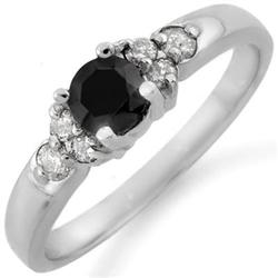 FINE 0.75ct ACA CERTIFIED WHITE & BLACK DIAMOND RING