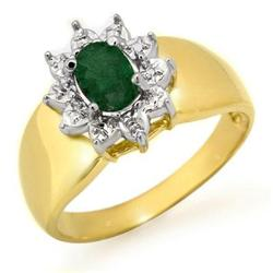 ACA CERTIFIED 0.50 ctw EMERALD LADIES RING YELLOW GOLD