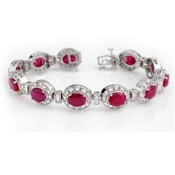 OVERSTOCK 16.0ctw RUBY & DIAMOND BRACELET 14KT GOLD