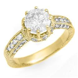 FAMOUS 1.75ctw DIAMOND ENGAGEMENT RING 14KT YELLOW GOLD
