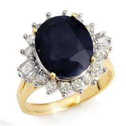 CERTIFIED 8.99ctw SAPPHIRE & DIAMOND RING 14KT GOLD