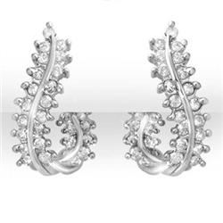 OVERSTOCK 1.0 ctw CERTIFIED DIAMOND EARRINGS 14KT GOLD