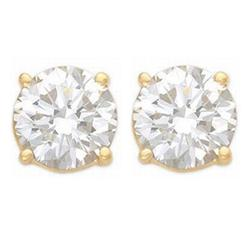 OVERSTOCK SOLITAIRE 2.50ctw DIAMOND STUD EARRINGS GOLD