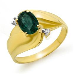 CERTIFIED .85ctw EMERALD & DIAMOND RING YELLOW GOLD