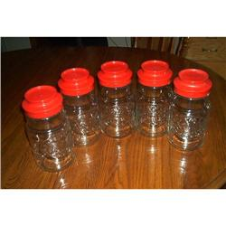 Five, Vintage Maxwell House Canister Jars #1948165
