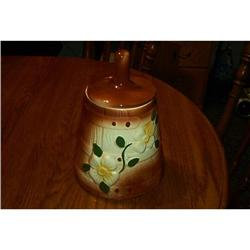 Beautiful, Highly Glazed, Decorative Cookie Jar#1948179