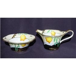 Noritake Art Deco Creamer and Sugar #1948190