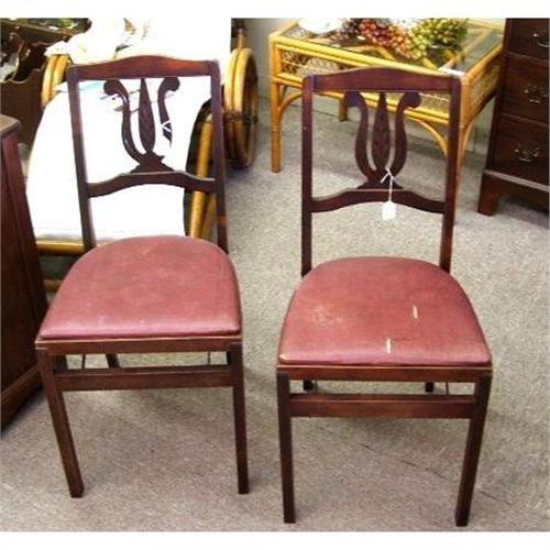 - 2 VINTAGE STAKMORE FOLDING CHAIRS, ARISTOCRATS #1951336