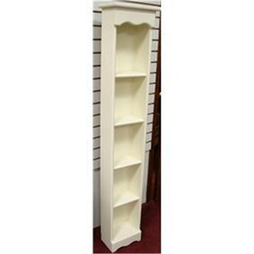 2100 tall narrow white wood bookcase - Tall Narrow Bookshelves