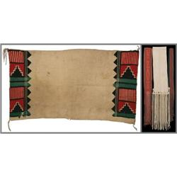 Four Hopi Dance Items: Kilt and Sashes