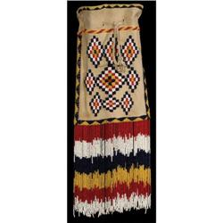 290: Apache Beaded Hide Pouch, c. 1910