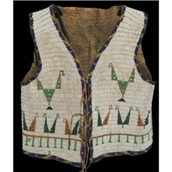 359: Sioux Fully Beaded Vest, c. 1890