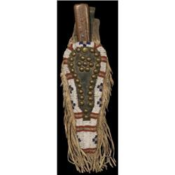 362: Northern Plains Beaded Knife Case, Trade Knife