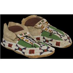 518: Sioux Beaded Moccasins, c. 1900