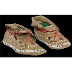 520: Eastern Sioux Moccasins, c. 1800s