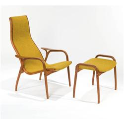Yngve Ekstrom Lounge chair and ottoman