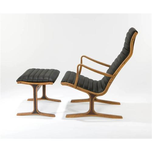 Japanese Modern Lounge chair and ottoman