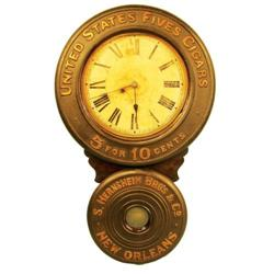 United States Fives Cigars Baird Clock