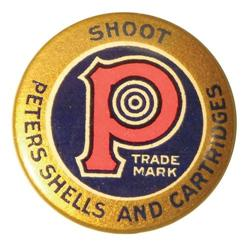 Peters Shells and Cartridges Pin Back