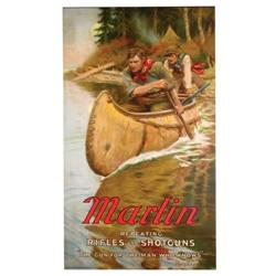 Rare Marlin Repeating Rifles Paper Sign