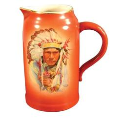 Western Americana Porcelain Milk Pitcher