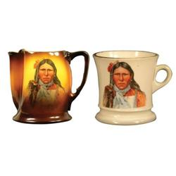 Western Americana Milk Pitcher and Cup