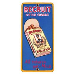 Recruit Little Cigars Porcelain Door Push