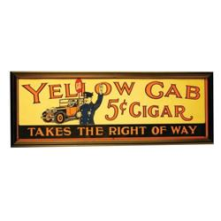 Yellow Cab Cigars Embossed Tin Sign