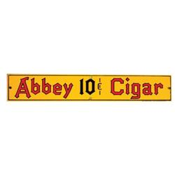 Abbey Ten Cent Cigar Porcelain Sign