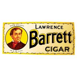 Lawrence Barrett Cigar Porcelain Sign