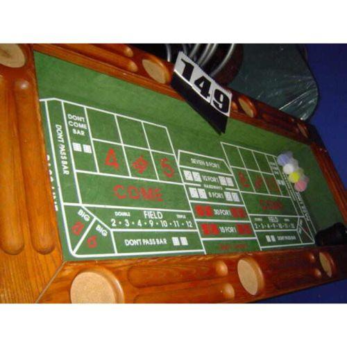 4 In 1 Oak Gaming Table/bar By Elephant Balls Mfg. Craps, Roulette U0026  Blackjack