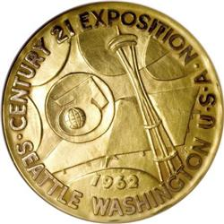 Set of 1962 Seattle World's Fair Gold Medals