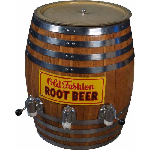 old fashioned root beer barrell with 3 spigots 24 dia