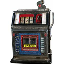 5 cent Watling Twin Jackpot Slot Machine w/ side vendor